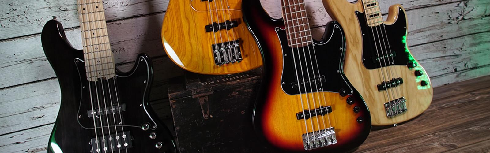 bass guitars lifestyle image