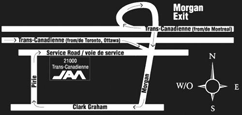 JAM location map