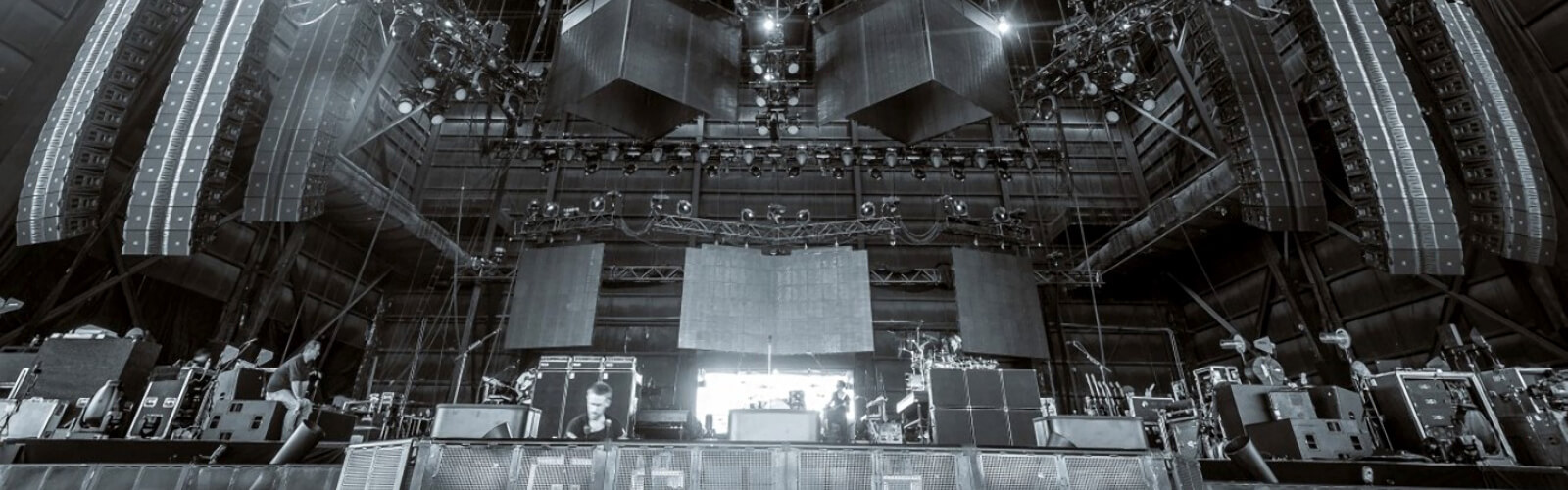 image of a stage being set up
